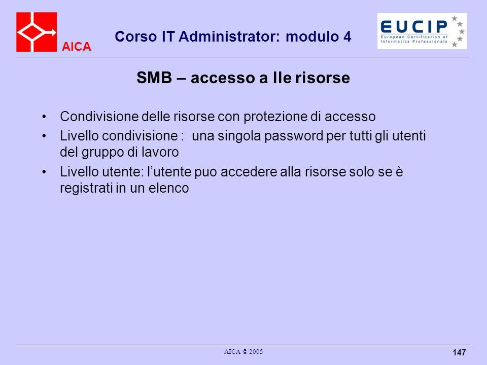 SMB – accesso a lle risorse