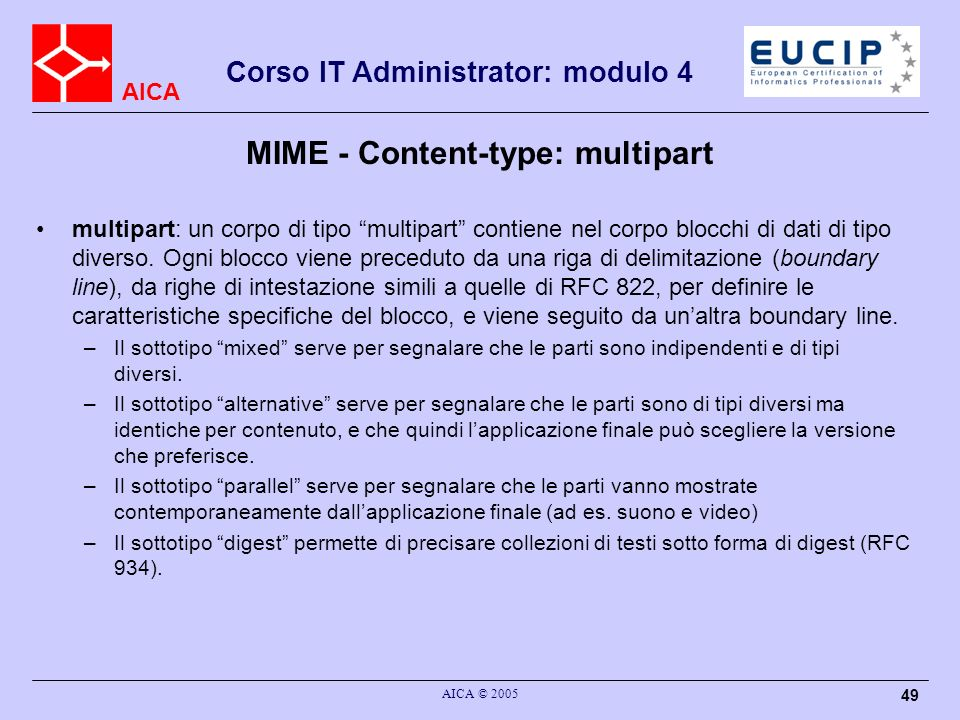 MIME - Content-type: multipart