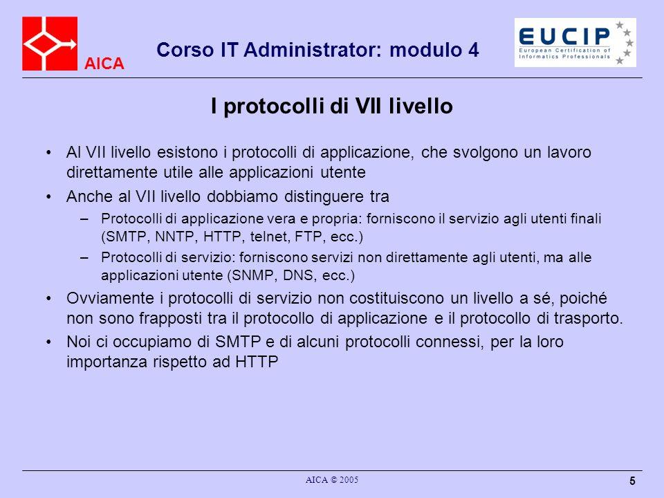 I protocolli di VII livello