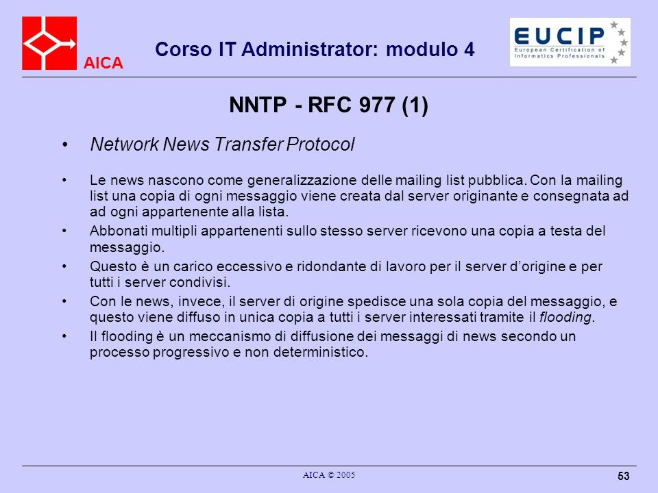 NNTP - RFC 977 (1) Network News Transfer Protocol