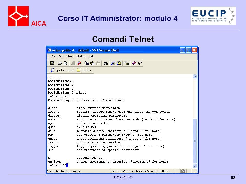 Comandi Telnet AICA © 2005
