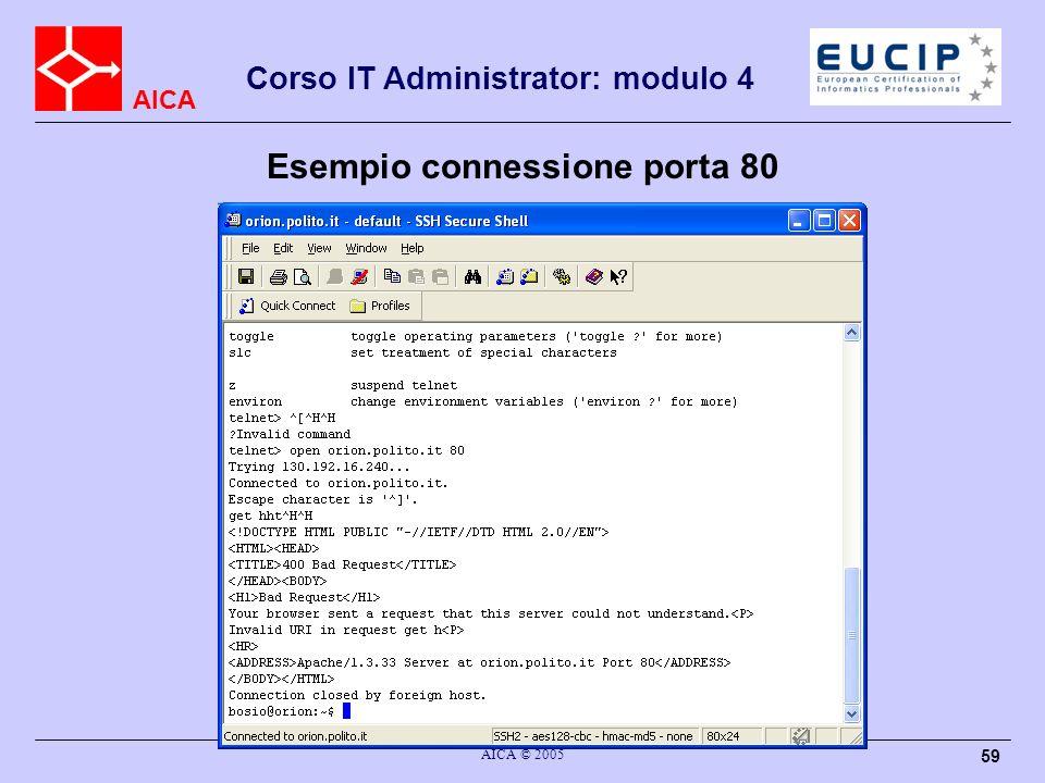 Esempio connessione porta 80