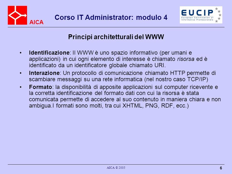 Principi architetturali del WWW