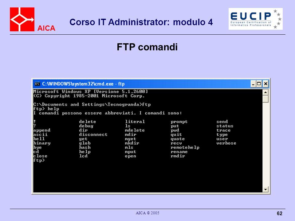 FTP comandi AICA © 2005