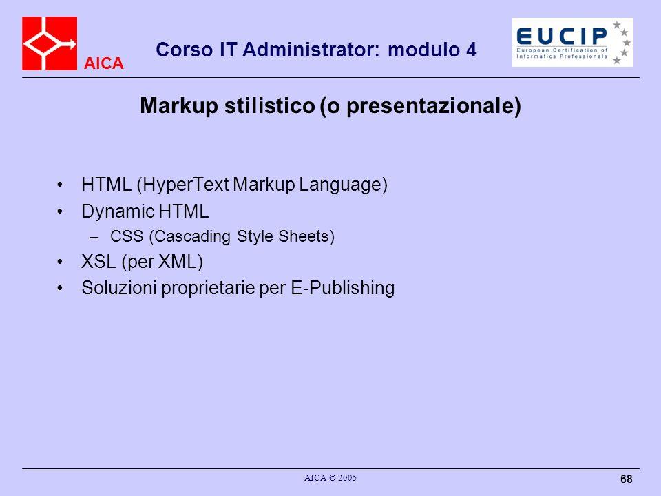 Markup stilistico (o presentazionale)