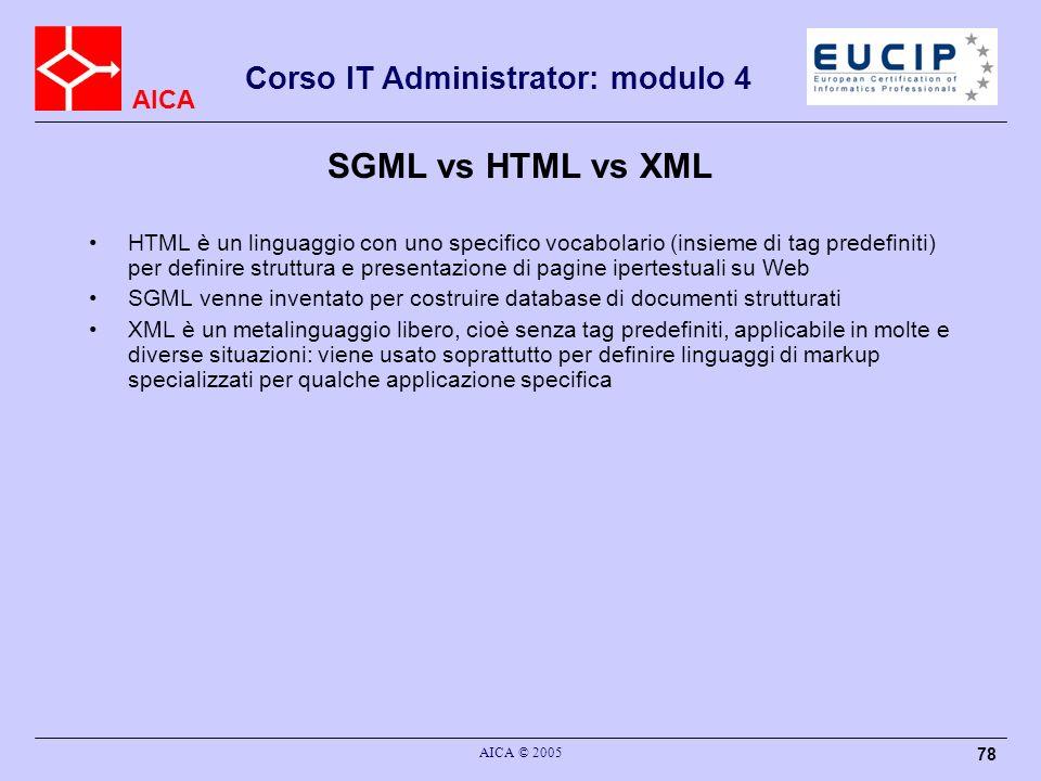 SGML vs HTML vs XML
