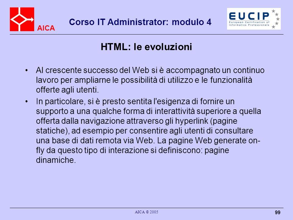 HTML: le evoluzioni