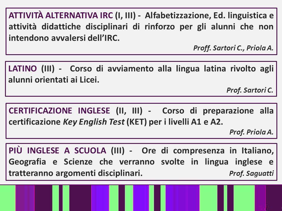 ATTIVITÀ ALTERNATIVA IRC (I, III) - Alfabetizzazione, Ed