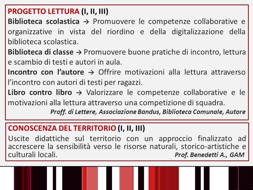 PROGETTO LETTURA (I, II, III)