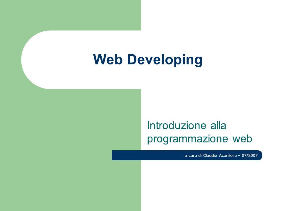 Introduzione alla programmazione web