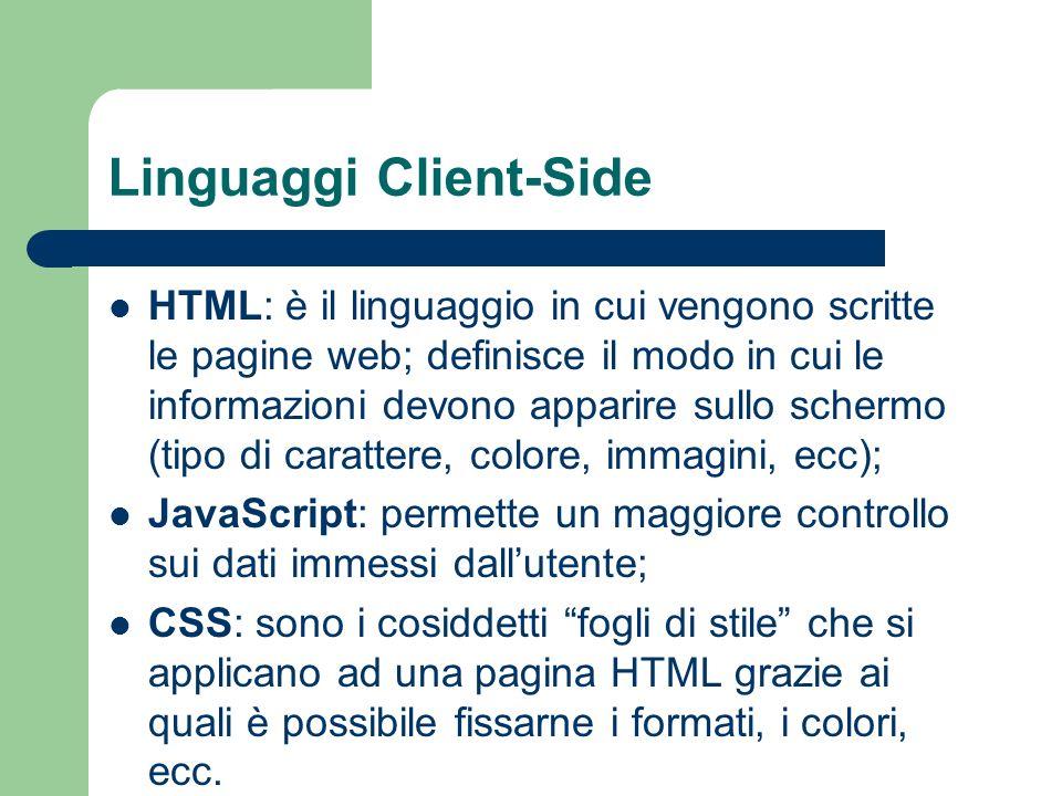 Linguaggi Client-Side