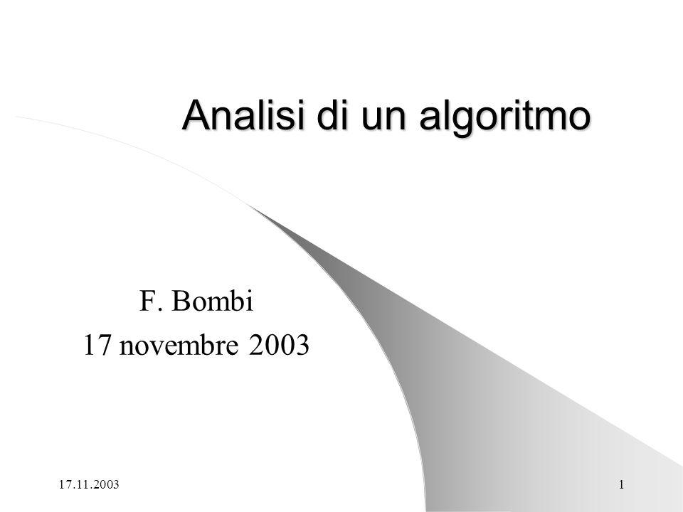 Analisi di un algoritmo