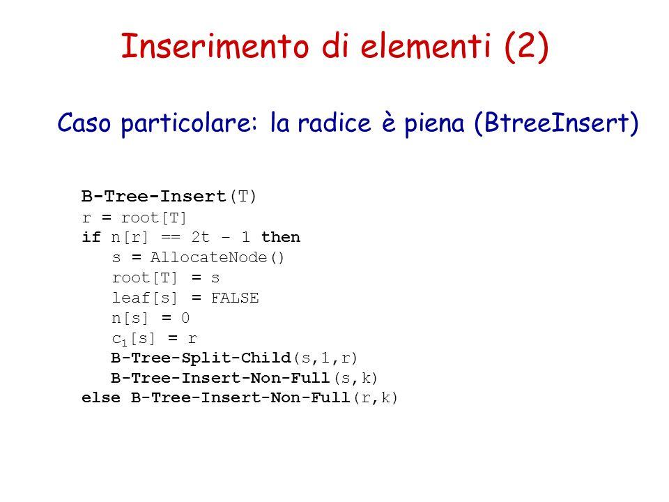 Inserimento di elementi (2)
