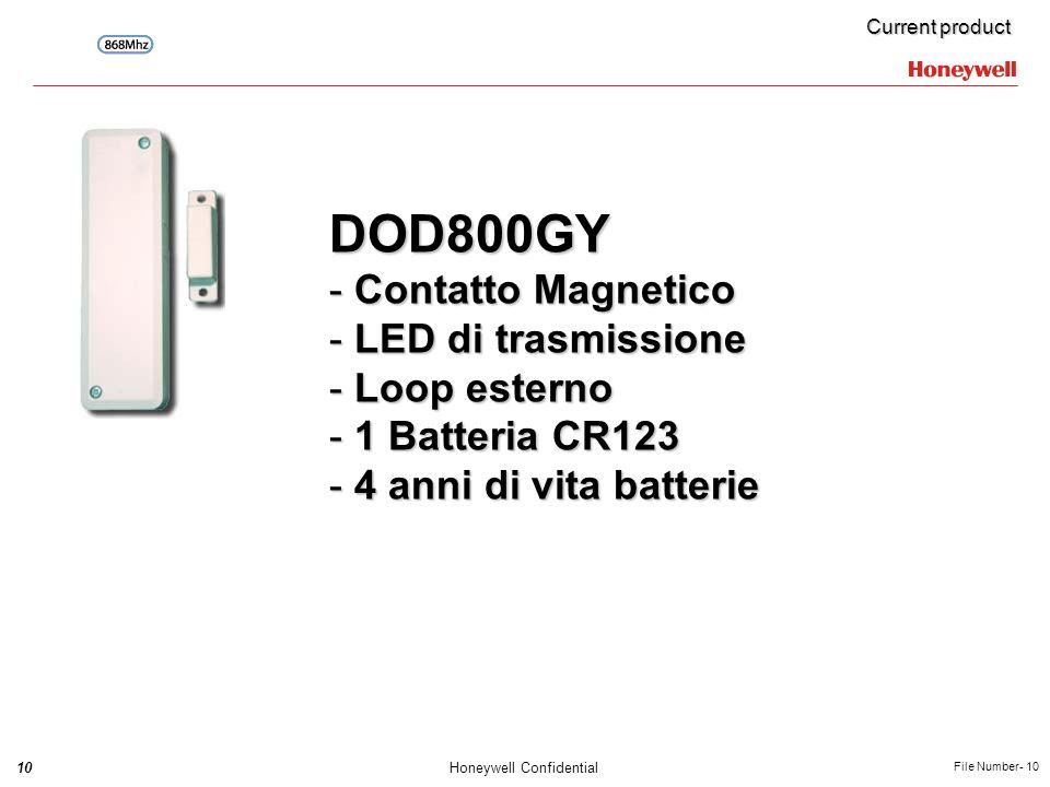 DOD800GY Contatto Magnetico LED di trasmissione Loop esterno