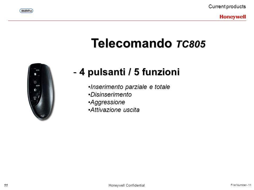 Telecomando TC805 4 pulsanti / 5 funzioni