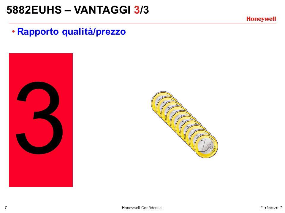 5882EUHS – VANTAGGI 3/3 Rapporto qualità/prezzo 3