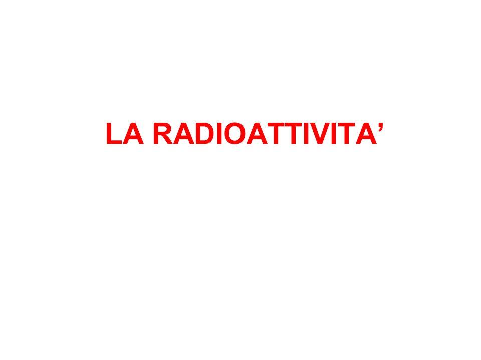 LA RADIOATTIVITA'