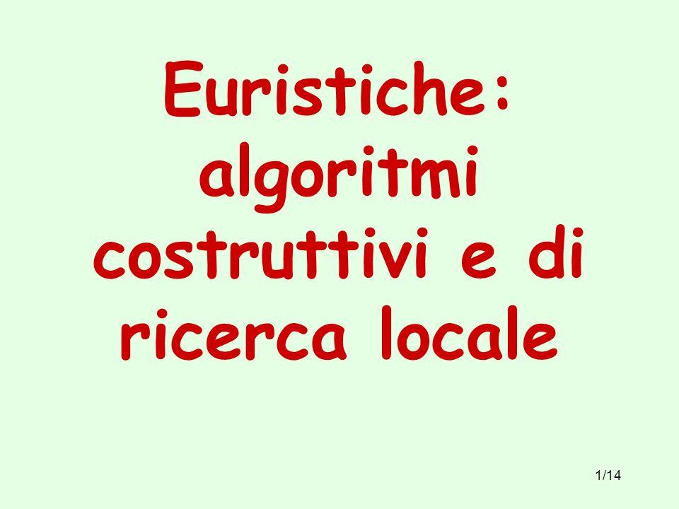 Euristiche: algoritmi costruttivi e di ricerca locale