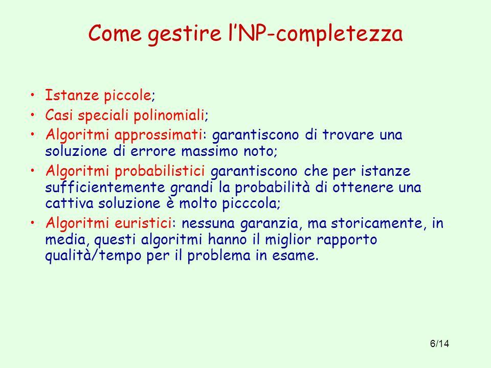 Come gestire l'NP-completezza