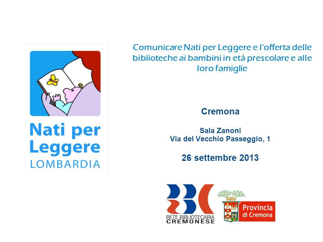 Cremona Sala Zanoni Via del Vecchio Passeggio, 1 26 settembre 2013