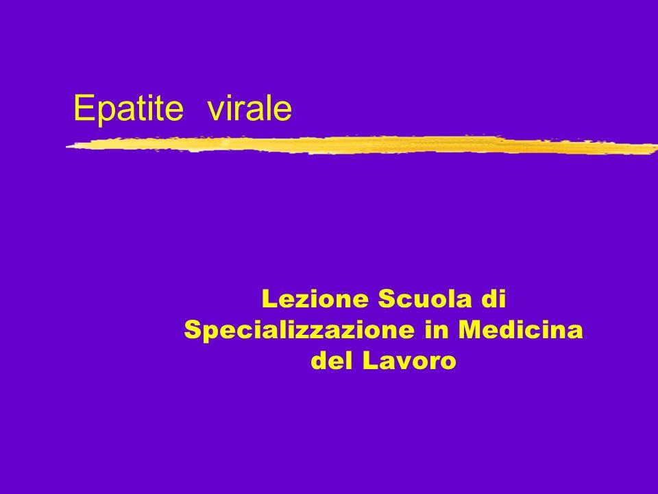 Lezione Scuola di Specializzazione in Medicina del Lavoro