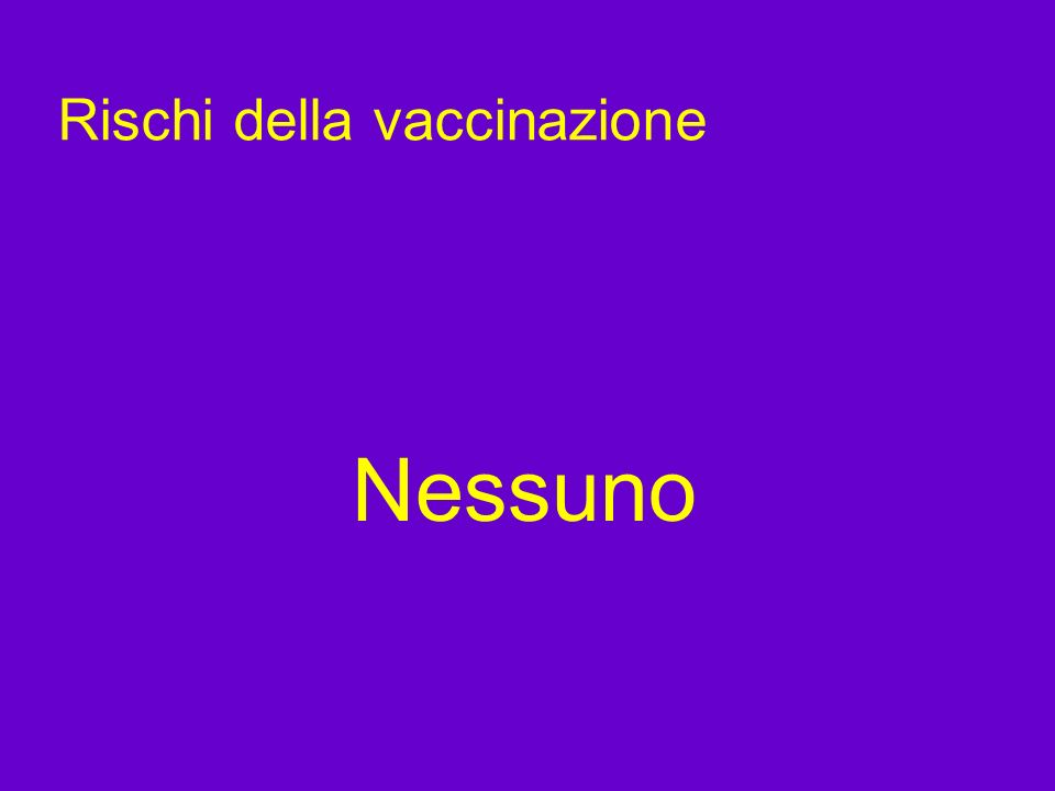 Rischi della vaccinazione