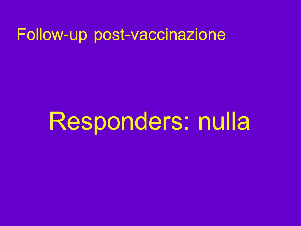 Follow-up post-vaccinazione