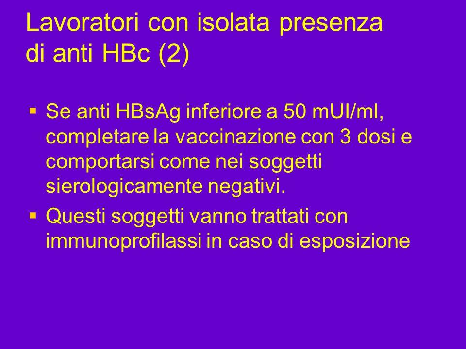 Lavoratori con isolata presenza di anti HBc (2)