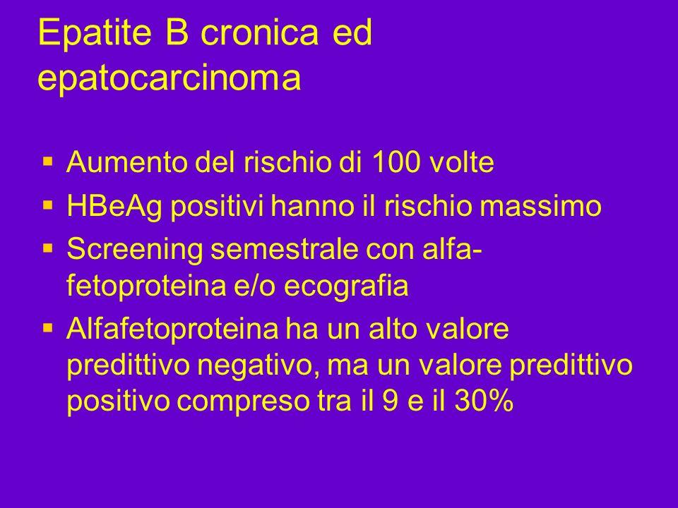 Epatite B cronica ed epatocarcinoma