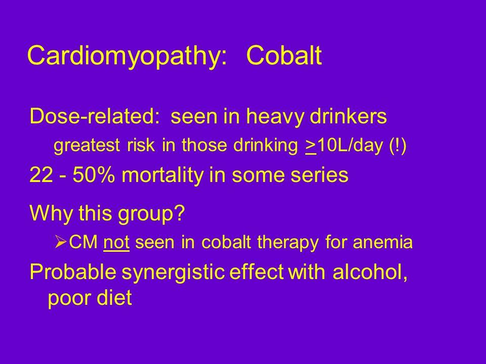 Cardiomyopathy: Cobalt