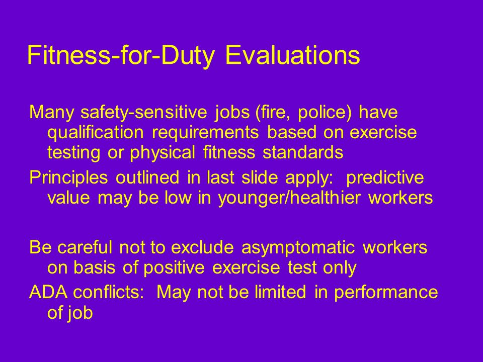 Fitness-for-Duty Evaluations