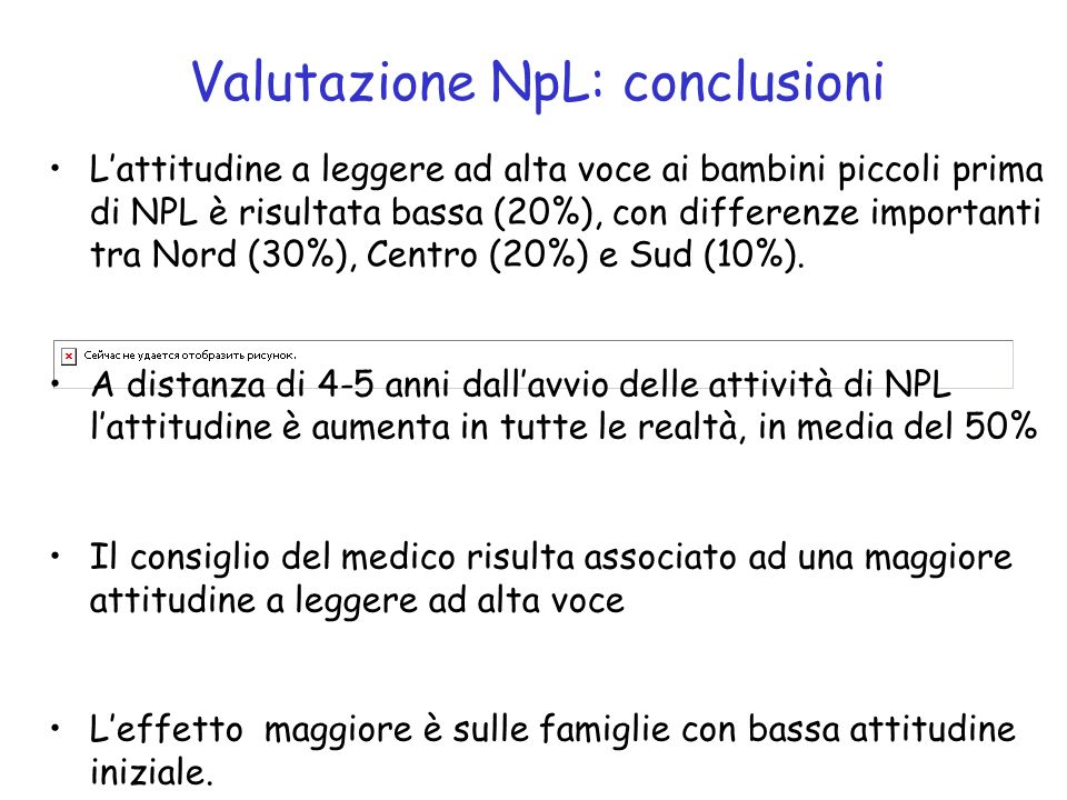 Valutazione NpL: conclusioni