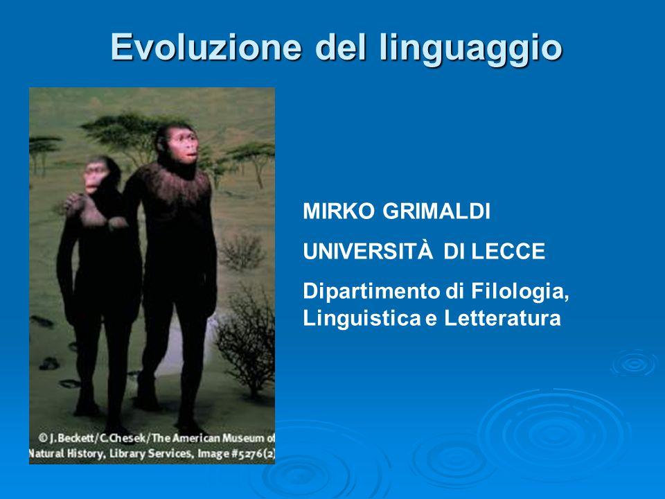 Evoluzione del linguaggio