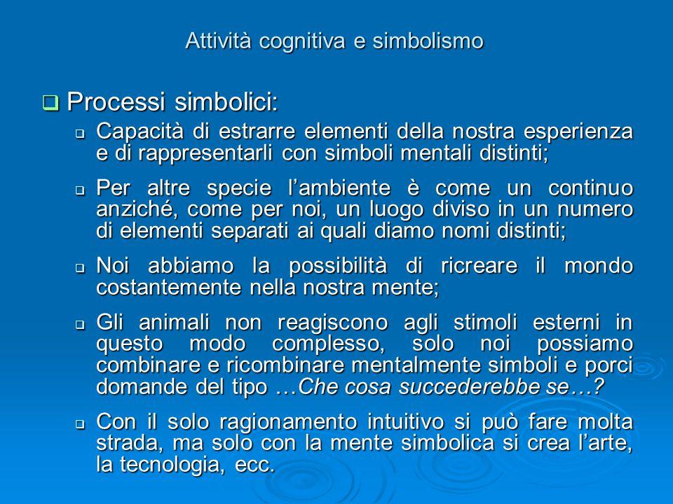 Attività cognitiva e simbolismo