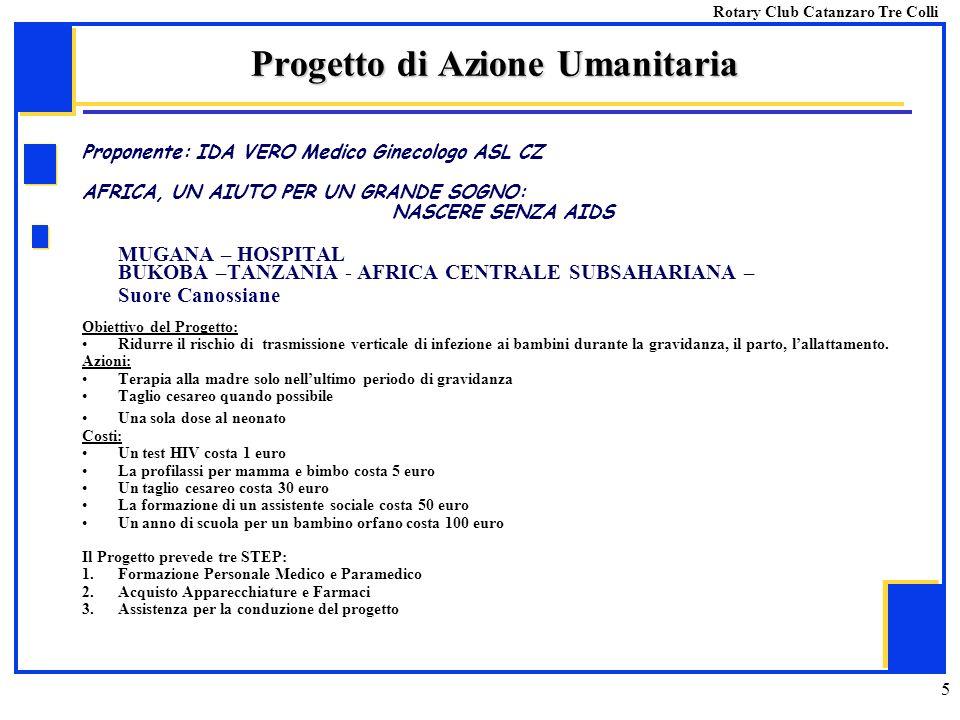 Progetto di Azione Umanitaria