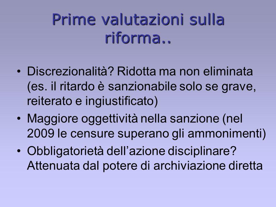 Prime valutazioni sulla riforma..