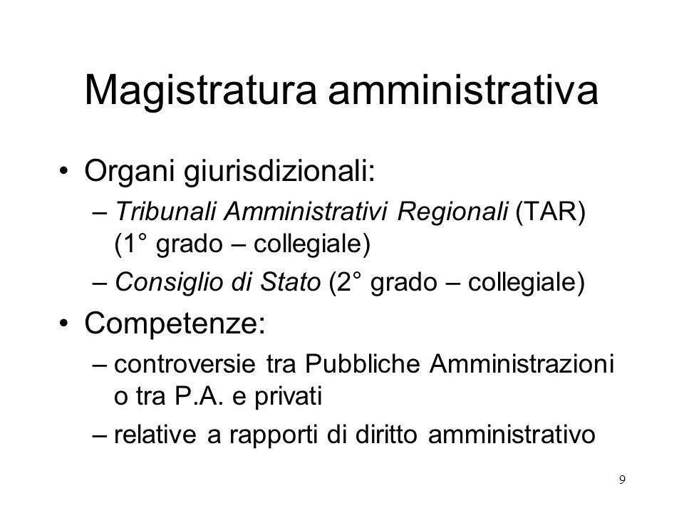 Magistratura amministrativa