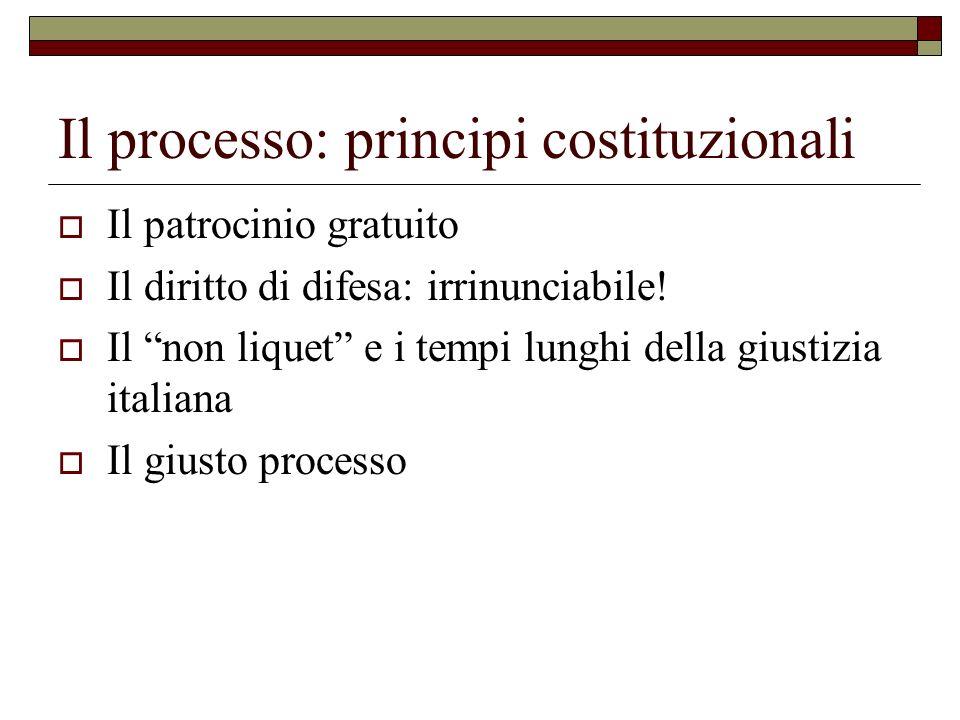 Il processo: principi costituzionali