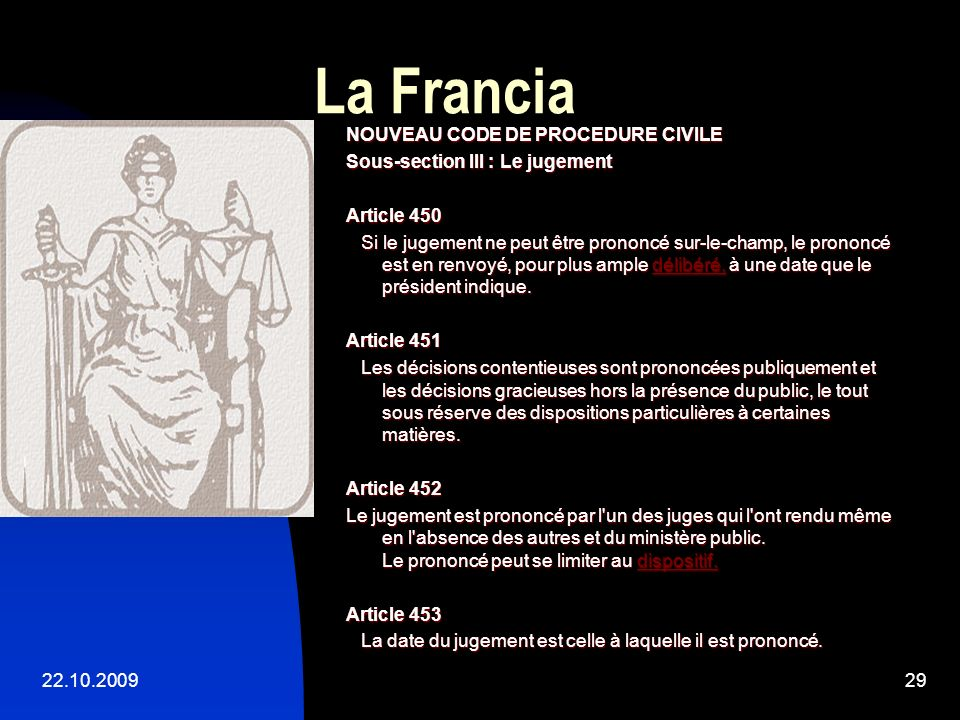La Francia NOUVEAU CODE DE PROCEDURE CIVILE