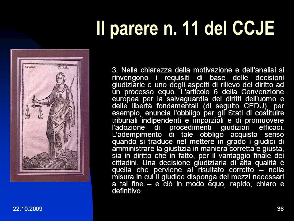Il parere n. 11 del CCJE