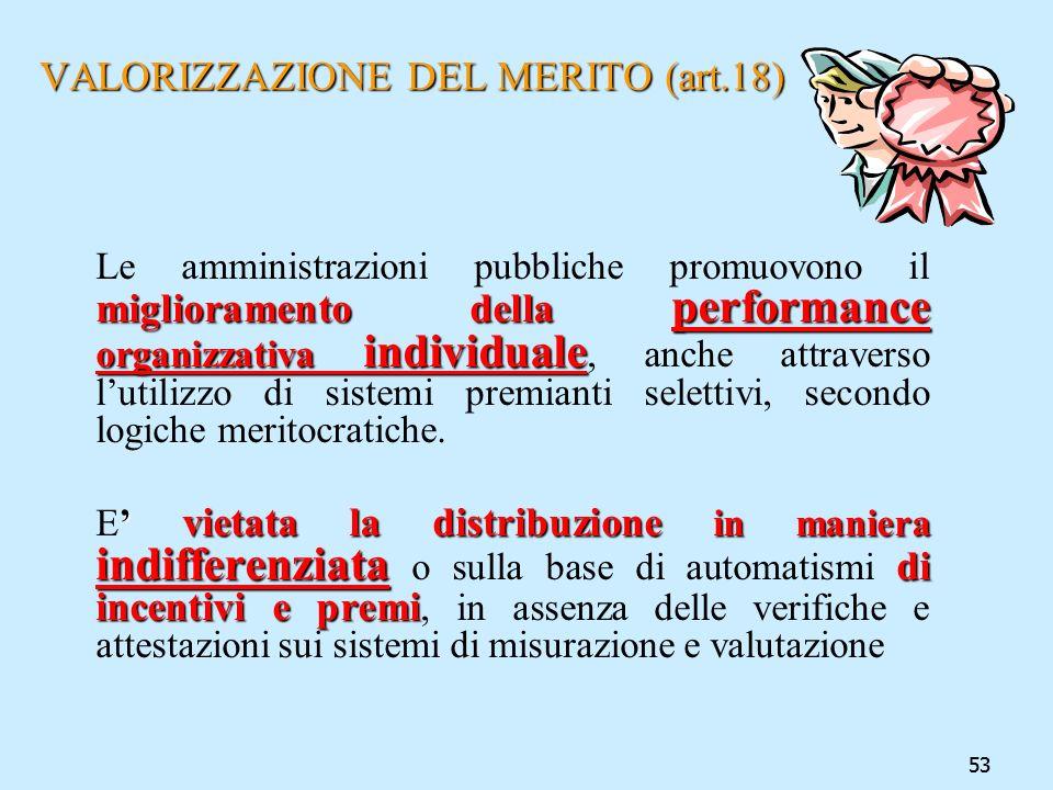 VALORIZZAZIONE DEL MERITO (art.18)