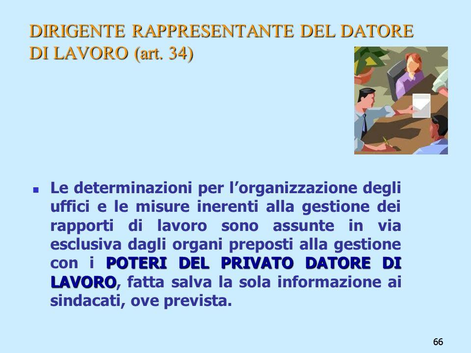 DIRIGENTE RAPPRESENTANTE DEL DATORE DI LAVORO (art. 34)