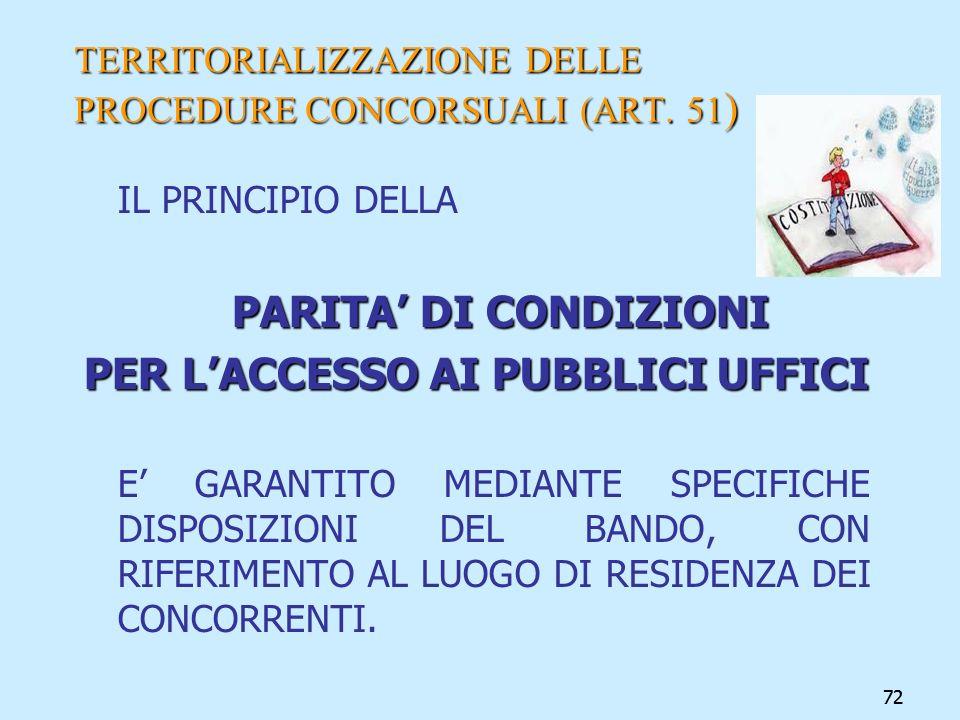 TERRITORIALIZZAZIONE DELLE PROCEDURE CONCORSUALI (ART. 51)