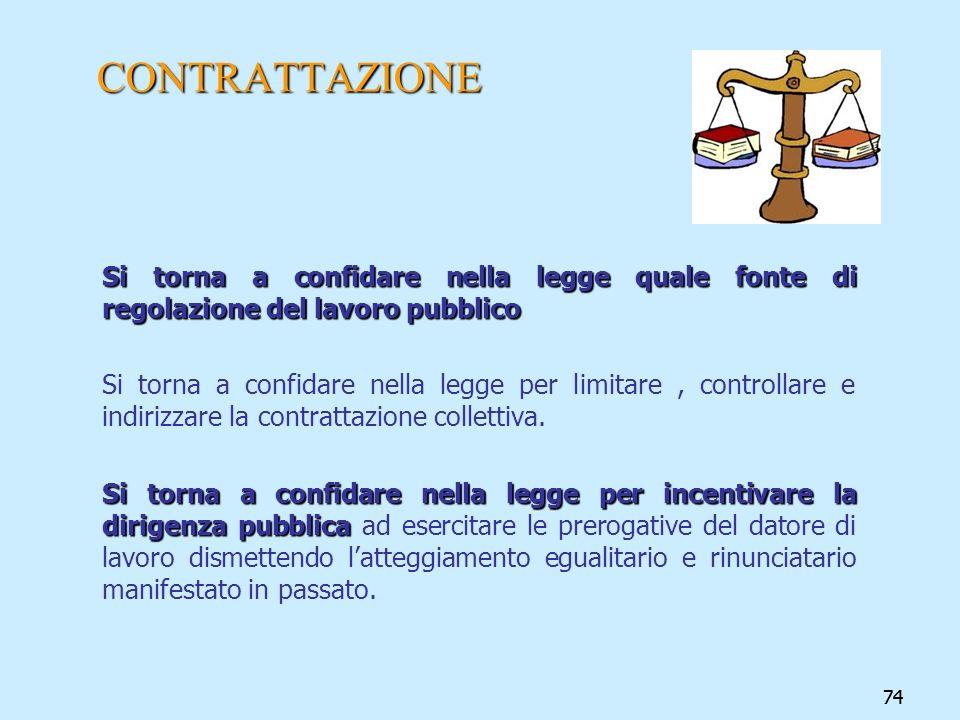 CONTRATTAZIONE Si torna a confidare nella legge quale fonte di regolazione del lavoro pubblico.