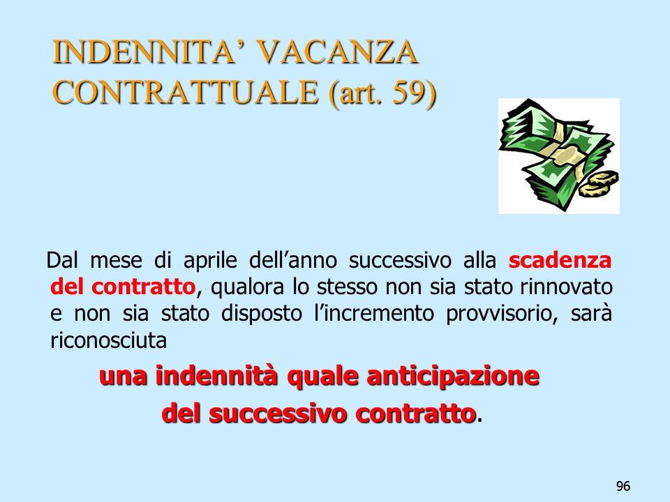 INDENNITA' VACANZA CONTRATTUALE (art. 59)