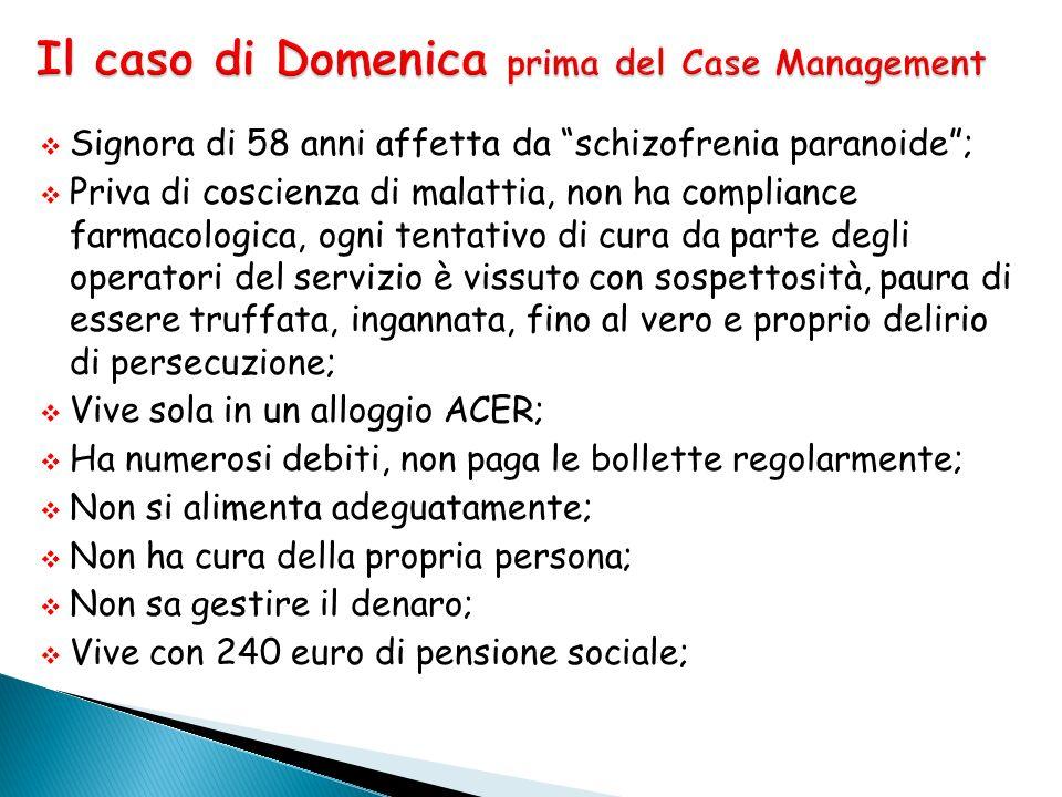 Il caso di Domenica prima del Case Management