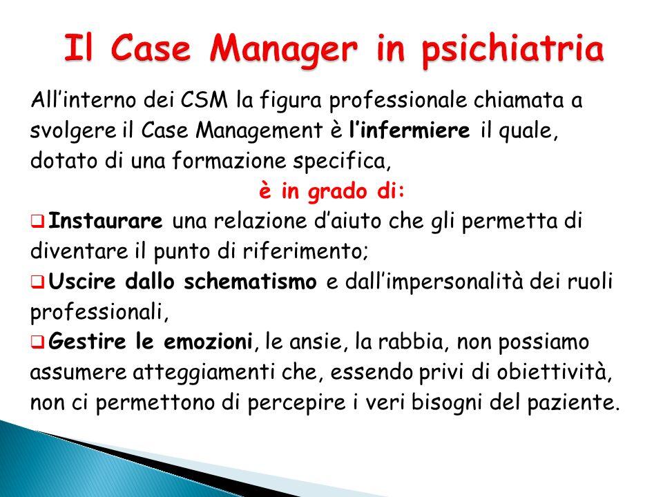 Il Case Manager in psichiatria