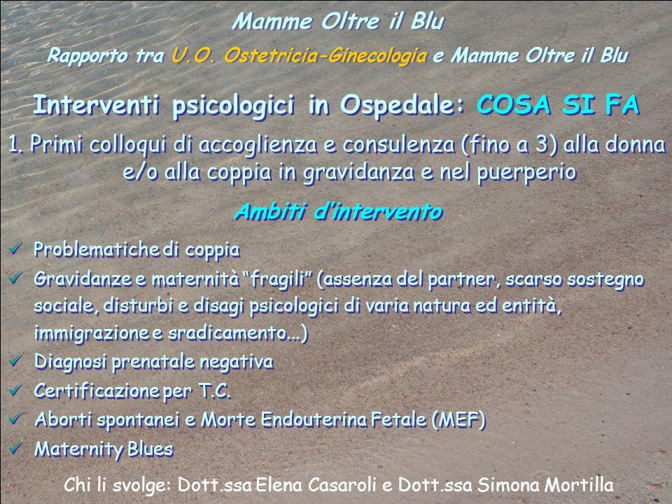 Interventi psicologici in Ospedale: COSA SI FA