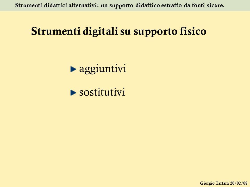 Strumenti digitali su supporto fisico