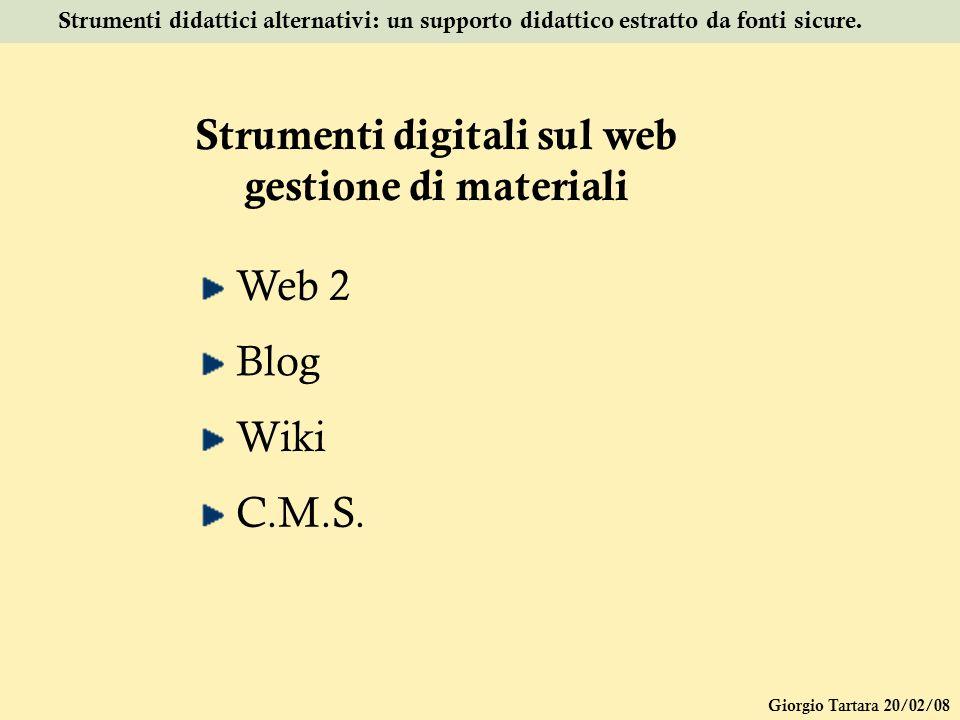 Strumenti digitali sul web